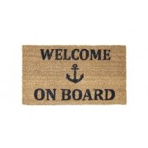"FELPUDO COCO ""WELCOME ON BOARD""           MEDIDAS: 70 X 40 X 2 CM"