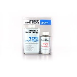 RESINA EPOXY WEST SYSTEM 105/206A SLOW 1,2 KG.